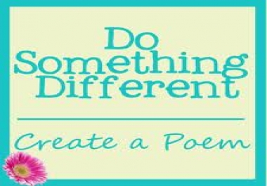 write you a personalized poem/letter