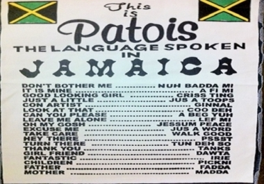 teach you the Jamaican dialogue also known as