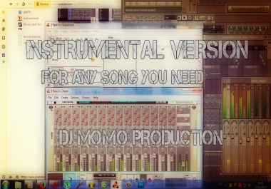 Produce An Instrumental Version Of Any Song You Need