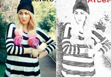 Make Perfect Sketch images with revisions till your satisfaction