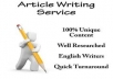 Provide Article Writing Service