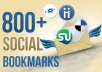post your website on over 800 social bookmarking sites!