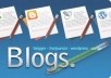 create blog with impressive design and content