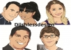 design a caricature cartoon of your picture