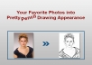 make your favorite photos in pretty pencil drawing for