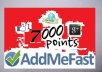 give you 6,000 to 7,000 points AddMeFast with new account or refill points to existing account