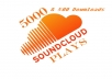 I will give you 5,000 soundcloud plays and500 Downloads