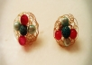 make Crochet Gold Plated Clasp Earrings with Gemstones