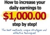 show you how to make $1000 cash with your home page in 24 hours