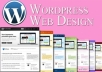 create a professional wordpress website for business or personal
