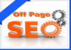 provide Professional Off Page SEO services