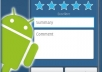 rate and make a honest review of your apps, up to five apps, in google play