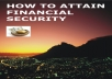 teach you how to attain financial security
