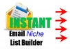 extract 4500 targeted email list of any niche.