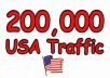 Add You 200,000+ Usa  Traffic Your Site Guaranteed