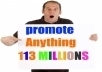 promote post your any url over 113 Million active facebook groups or Fan wall timeline wall post
