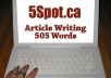 write a 505 word article or blog post with keywords