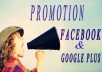 promote your link to 12 millions google plus+facebook members
